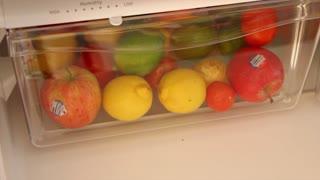 Drawer of Fruit in Fridge