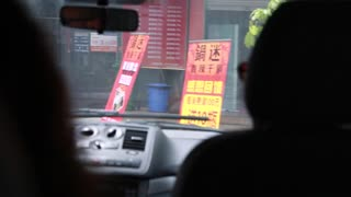 driving in a chinese city of chengdu