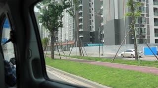 driving in a van in chengdu china