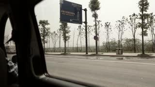 driving in van in chengdu china