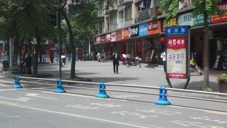 Driving shot of Chengdu china