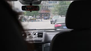 driving the streets of chengdu china