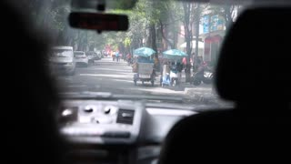 driving through the city of chengdu china