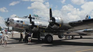 Editorial a B17 bomber at a World War 2 traveling exhibit