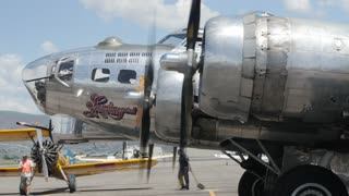 Editorial a B17 bomber at World War 2 exhibit