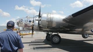 Editorial B17 bomber at a World War 2 exhibit
