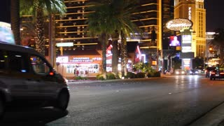 Editorial shot of Las Vegas strip at night
