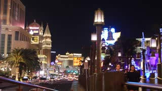 Editorial shot of the Las Vegas strip at night