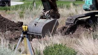 Excavation Tractor Digging