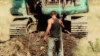 Excavators starting project