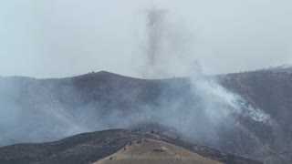 Fire Burning Mountain