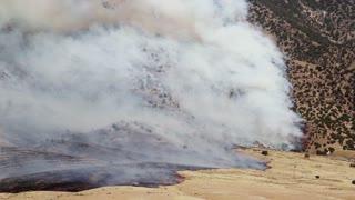 Fire Burning on Mountain