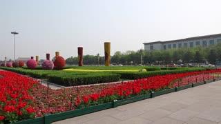 gardens in tiananmen square in beijing china