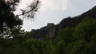great wall of china on a mountain ridge
