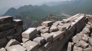 great wall of china on immense ridges near beijing