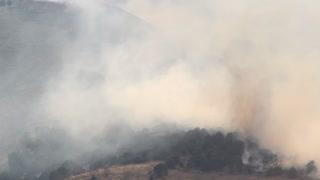 Growing smoke from wild fire