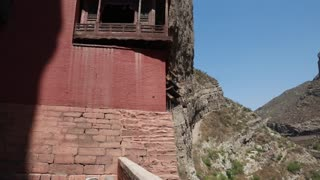 hanging temple monastery at datong china reveal