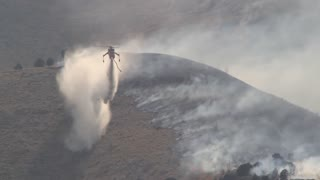 Helicopter Battling Wildfire