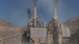 Horrible pollution from industrial factory