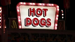 hot dog sign at carnival