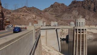 Hover dam near las vegas in desert