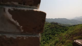 Incredible ancient section of the great wall of china Beijing mutianyu Section