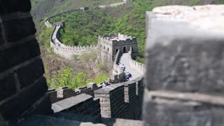 incredible great wall of china beijing mutianyu with tourists