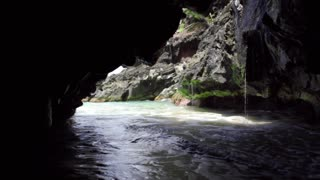 Inside a sea cave on Kauai