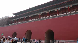 inside the gates of the forbidden city palace in beijing china