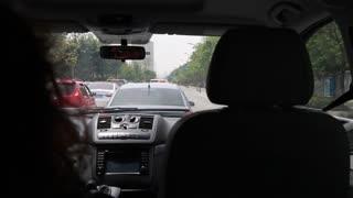 interior car dolly shot