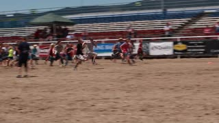 kids pig chase in kids rodeo