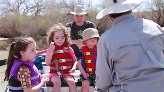 kids river rafting on san juan river