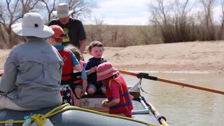 kids river rafting on the san juan river