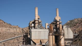 Large industrial coal plant