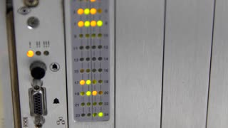 Lights blinking on the telecommunications server