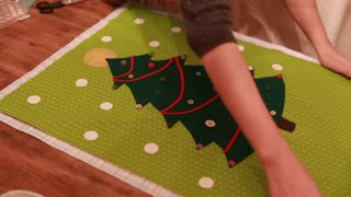 making a christmas advent calendar for craft time