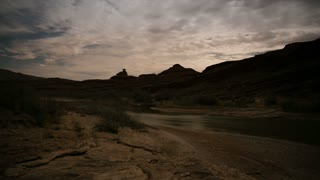 mexican hat desert night timelapse