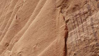 Native American Petroglyphs on canyon rock wall