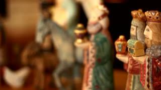 Nativity Scene Panning Shot