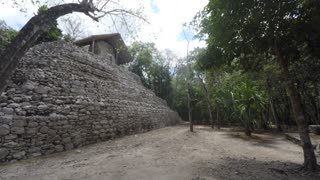 Old Mayan ruin in Coba near Tulum Mexico