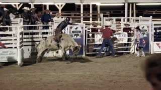 Old time rodeo and bull riding