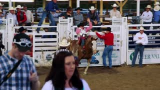 Old Time Rodeo bareback ride