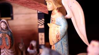Panning shot of Nativity Scene