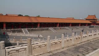 people at the amazing forbidden city courtyard in beijing china