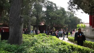 People at the Forbidden City garden at Beijing China