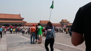 people inside the gates of the forbidden city beijing china