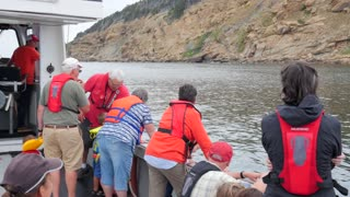 People On A Commercial Fishing Boat At Cape Breton Island