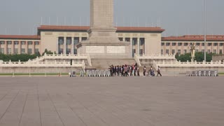 people walking in tiananmen square china