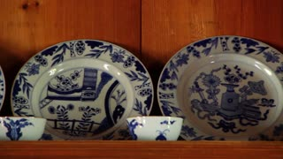 Pottery Dishes on Shelve