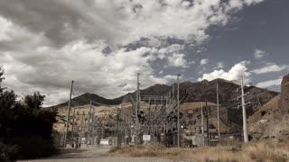 Power plant Substation Time lapse